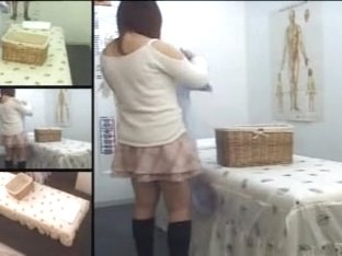 Curvy Japanese enjoys a hot massage on hidden camera