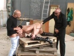 Andy Brown takes two dicks simultaneously