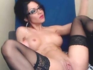 Busty Hottie Toying her Tight Pussy
