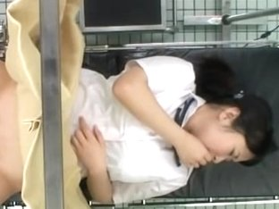 Hot busty Asian teen came for a pussy exam at the hospital