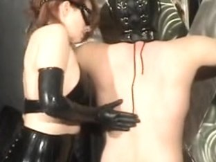 The dominant-bitch fondles her serf