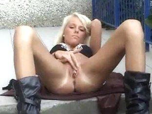Smoking Hottie Masturbating