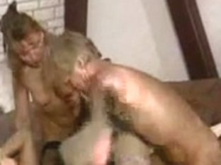 MMMF vintage foursome with horny guys with big cocks