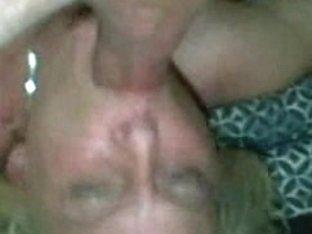Horny wife deepthroating her husband