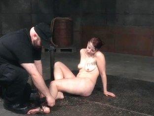 Peeing sub Kel Bowie tiedup by maledoms