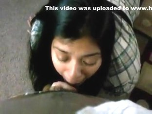 Gorgeous Latina gobbles on that dong