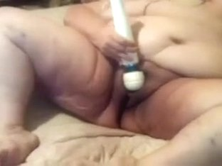 This unsightly and freaky old lady masturbates with a sex-toy