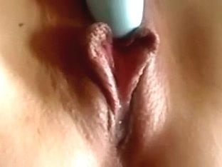 My precious-looking vulvar lips as I am teasing myself alone