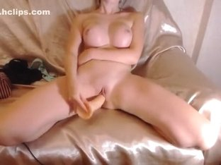 SecrettBarbie: busty babe fucks herself