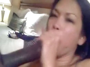 Asian sweetheart sucks my black dong