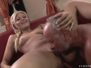 Crazy pornstar in Amazing Blonde, Blowjob sex clip