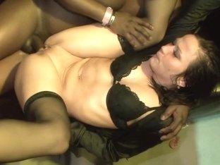 Best pornstar in hottest redhead, group sex adult movie