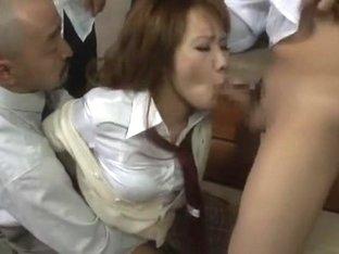 Crazy Japanese girl LUNA in Exotic Gangbang JAV video
