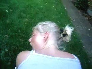 Webman - Swedish girl fucked doggystyle outside