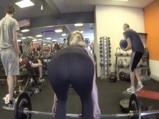 Big ass bent over for deadlift exercise