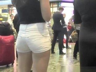 Nice ass in tight jeans shorts