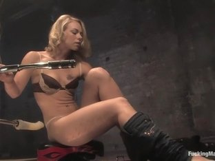 Hottest fetish adult scene with incredible pornstar Melanie Jayne from Fuckingmachines