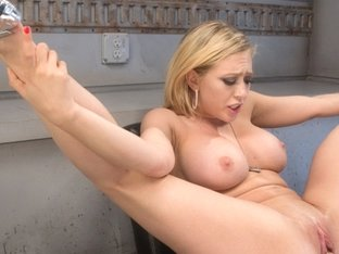 Exotic blonde, fetish adult video with best pornstar Kagney Linn Karter from Fuckingmachines