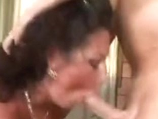 Hot Busty Brunette Cougar Getting Busy