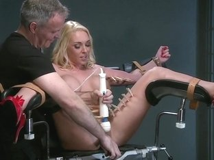 Defiant sub gets Masters wrath before squirting all over the dungeon floor