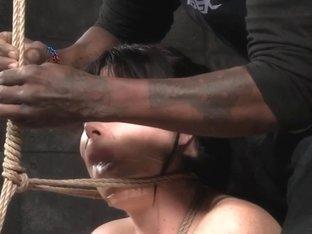 Analhooked fetish sub tiedup by black master
