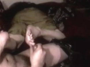 older foot sniffing and footjob