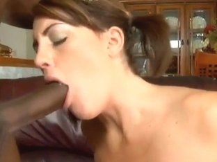 Nikki really loves the taste of chocolate cock
