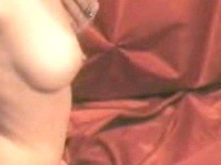 Black panties of busty blonde was took down to obtaine pleasure