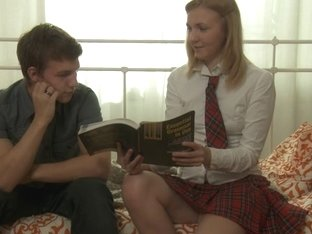 Bewitching schoolgirl learning hard anal fuck after lessons
