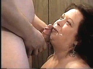 spreading cum over her face
