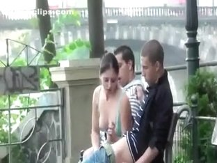 Ballsy Group Have a Threesome in Public