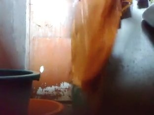 Bangladeshi Maid taking shower.
