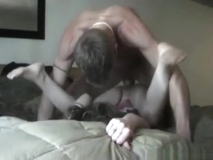 Couple has wild sex in various positions on the bed
