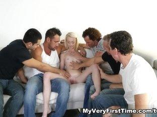 Amazing pornstar in Fabulous Blonde, Gangbang porn scene