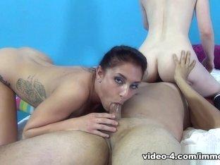 Hottest pornstars Mischa Brooks, Jennifer White in Exotic Cumshots, Threesomes adult clip