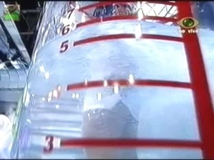 under water stunning ass upskirt and enormous tits in a game show