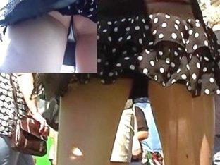 Hottie hiding wonderful small belt up the petticoat