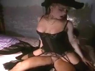Widow in sheer stockings fucked