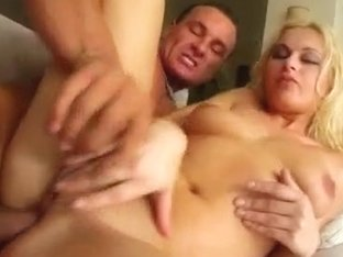 A blonde named Nikki gets get ass fucked and filled with mancream.