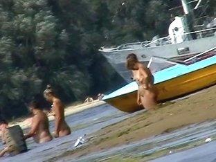 Hot mature women filmed by a voyeur on the nudist beach