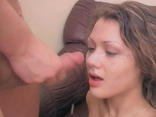 Fantastic Teen Melisa Get Her Face Stuffed With Stiff Cock