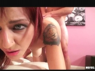 Exceedingly SEXY redhead takes a big-10-Pounder in her constricted wazoo