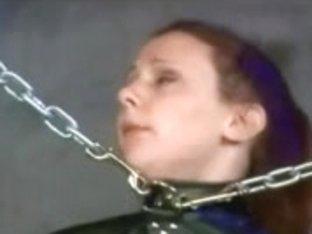 Redhead Flogged Paddled Thonged And Shocked