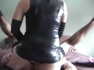fisting and strapon fucking my sissy maid