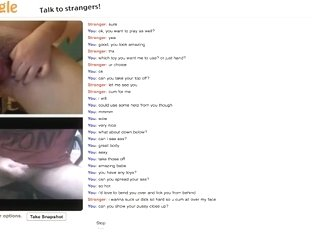 girl has cybersex with a stranger on omegle and talks dirty