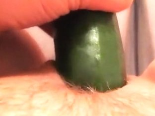 I love to fuck myself with cucumber when I am home alone