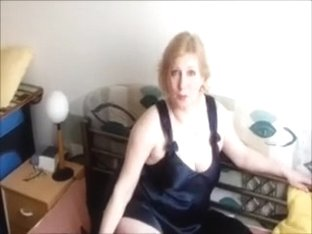 Sexually Sexually Excited golden-haired cougar wifey in couch posing sex in bed