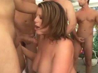 hot chicks in wild bukkake orgy