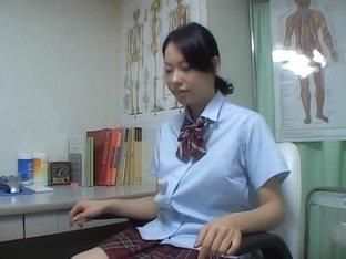 Japanese schoolgirls under full medical checkup on spy cam