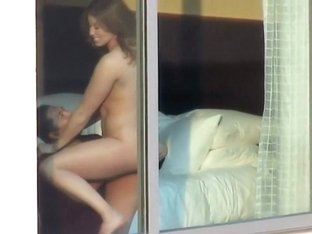 Sex in hotel spied through window